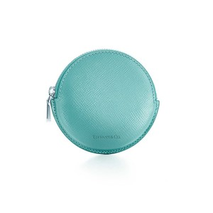 Tiffany & Co. Tiffany Blue Patent Leather Round Coin Purse