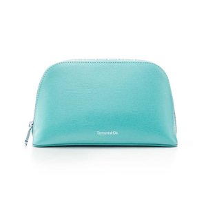 Tiffany & Co. Tiffany Blue Leather Zip Dome Pouch