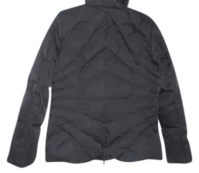 Item - Black Fitted Down Filled Jacket Size 8 (M)