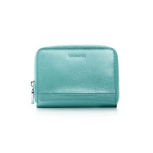 Tiffany & Co. Tiffany Blue Patent Leather Small Zip Wallet Coin Purse Card Case