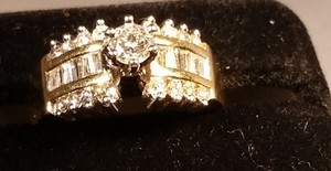 Other A beautiful, contemporary, all natural diamond ring in 14KY