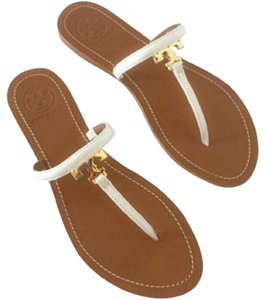 Tory Burch Leather White Sandals