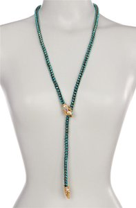 Betsey Johnson NEW Rhinestone Snake Lariat Necklace, B10340-N01