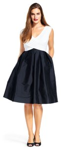 Adrianna Papell Taffeta Fitted Skirt Pockets Dress