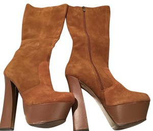 Halston Brown Tan Boots