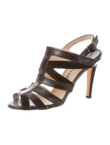 Manolo Blahnik Leather Heels Black Sandals