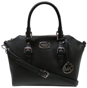 Michael Kors Ciara Leather Satchel in Black