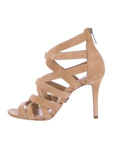 Michael Kors Collection Suede 8 Caged Nude Sandals