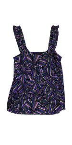 Marc by Marc Jacobs Purple Blue Green Print Top