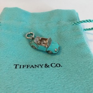 Tiffany & Co. Tiffany & Co Silver Blue Enamel Convertible Car Charm w/ POUCH!