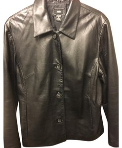 Mossimo Supply Co. Motorcyle Leather Leather Jacket