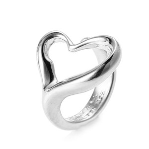 Tiffany & Co. 925 Silver Elsa Peretti(R) Open Heart Ring