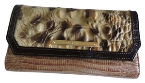 Brahmin BRAHMIN SUMMER TORTOISE VENTANA LEATHER SOFT CHECKBOOK WALLET