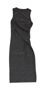 Alexander Wang Heather Grey Sleeveless Draped Dress