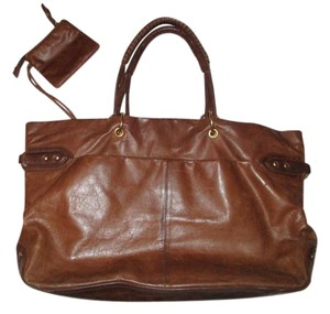 Sigrid Olsen Leather Distressed Tote in British tan