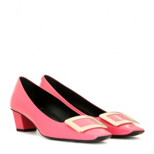 Roger Vivier Belle Patent Leather Pink Pumps