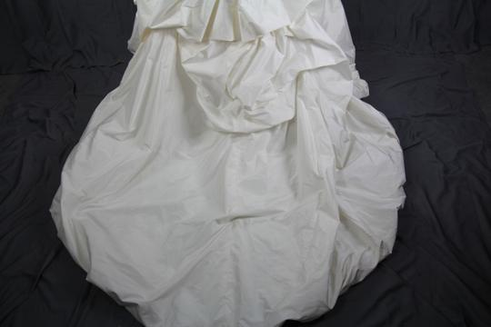 Paloma Blanca Natural White Silk Dupioni 4156 Feminine Dress Size 6 (S)