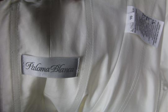 Paloma Blanca Natural White Silk Dupioni 4156 Feminine Wedding Dress Size 6 (S) Image 11