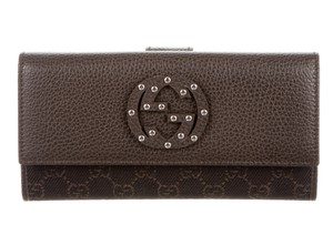 Gucci Brown leather Guccissima monogram Gucci wallet