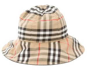 Burberry Tan, black, brown Burberry Nova check wide brim bucket hat