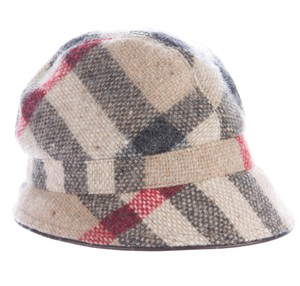 Burberry Khaki, brown multicolor Burberry Nova check wool cap M