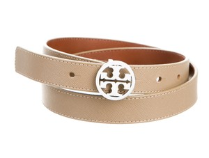 Tory Burch Tan Saffiano leather Tory Burch Reva logo belt S