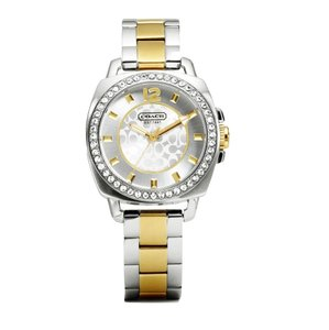 Coach Coach Signature Boyfriend Two Tone Stainless Glitz Watch 14501702