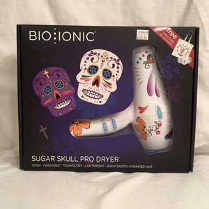 Bio Ionic New! $270 Professional Blow Dryer Sugar Skull Bio Ionic Lightweight