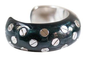 Balenciaga Balenciaga - Screw And Dark Green Bangle