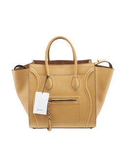 Céline Phantom Grained Leather Tote in Tan