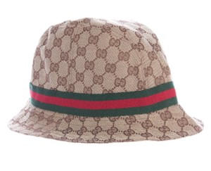 Gucci Gucci beige, brown Guccissima monogram bucket hat
