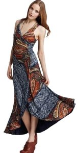 Blue and Orange Paisley Maxi Dress by Marc by Marc Jacobs Maxi Asymmetrical