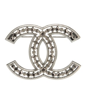 Chanel CHANEL Ruthenium CC Brooch