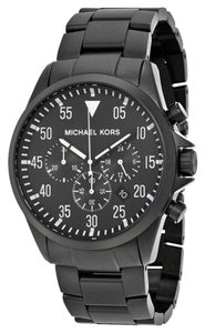 Michael Kors !! FLASH SALE !! NWT Men's Chrono Gage Black Ion-Plated Watch MK8414