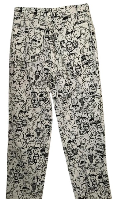 Item - Black and White Coated Design Straight Leg Jeans Size 26 (2, XS)
