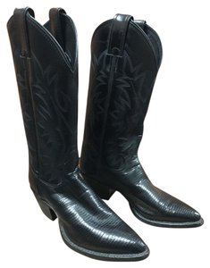 Justin Boots Cowboy Boot Vintage Black Boots