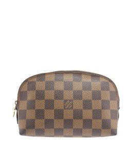Louis Vuitton Louis Vuitton Brown Damier Ebene Coated Canvas Cosmetic Bag (108711)