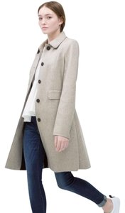 Zara Wool Trench Peter Pan Light Wool Single Breasted Coat