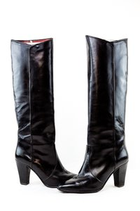 Saint Laurent Ysl Vintage 80's Fashion Black Boots