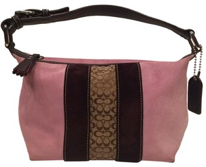 Coach Small Suede Pink Hobo Bag