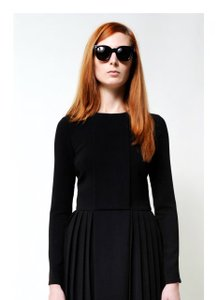 Timo Weiland Pleated Longsleeve Crepe Dress