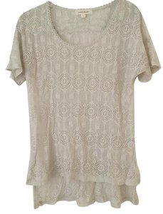 Nordstrom Lace High Low Layering Piece Tunic