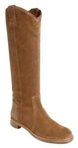 Via Spiga Suede Riding Light Brown Boots
