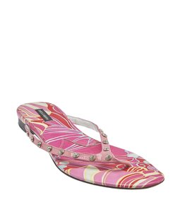 Dolce&Gabbana Patent Leather Flip Flops Pink Sandals