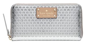 Kate Spade Yaletown Neda Zip Around Wallet Silver Patent Color