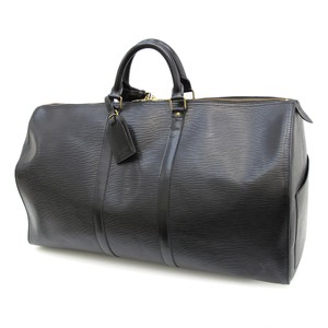 Louis Vuitton Keepall Epi Keepall Travel Keepall 55 Keepall Black Travel Bag