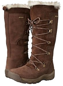 Caterpillar Leather Winter Water-repellant Bitter Chocolate Boots