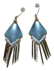 Alexis Bittar ALEXIS BITTAR LUNA Lucite Kite Shaped Fringe Dangler Earrings MONTANA