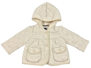 babyGap Quilted Longsleeve Hooded IVORY Jacket