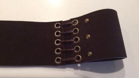 Kenneth Cole Kenneth Cole Dark Brown Suede Double Wide Belt